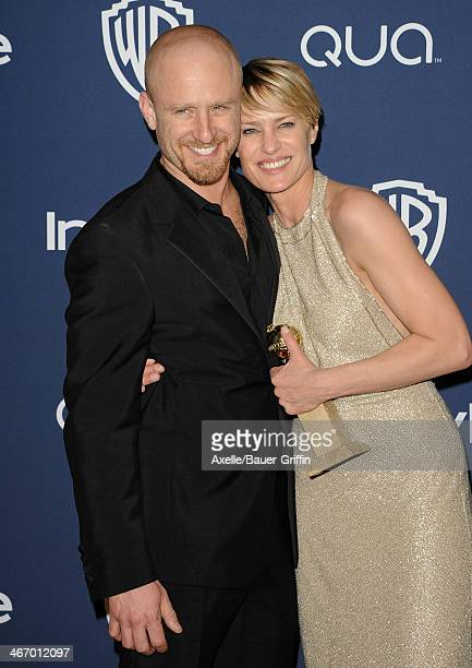 Actors Ben Foster and Robin Wright arrive at the 2014 InStyle And Warner Bros 71st Annual Golden Globe Awards PostParty at The Beverly Hilton Hotel...