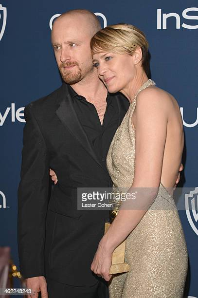 Actors Ben Foster and Robin Wright attend the 2014 InStyle And Warner Bros 71st Annual Golden Globe Awards PostParty held at The Beverly Hilton Hotel...