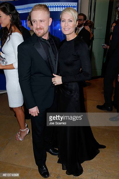 Actors Ben Foster and Robin Wright attend the 72nd Annual Golden Globe Awards at The Beverly Hilton Hotel on January 11 2015 in Beverly Hills...