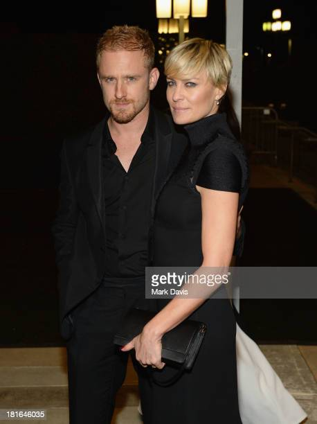Actors Ben Foster and Robin Wright attend the Governors Ball during the 65th Annual Primetime Emmy Awards at Nokia Theatre LA Live on September 22...