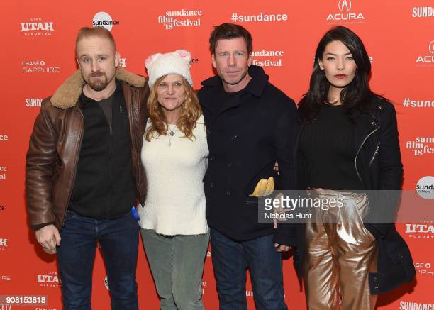 Actors Ben Foster Dale Dickey Director Taylor Sheridan and Nicole Sheridan attend the 'Leave No Trace' Premiere during the 2018 Sundance Film...