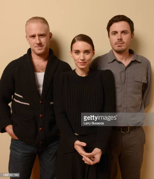 Actors Ben Foster, Rooney Mara and Casey Affleck pose for a portrait during the 2013 Sundance Film Festival at the Getty Images Portrait Studio at...