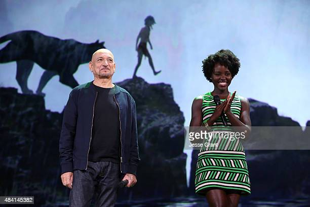 Actors Ben Kingsley and Lupita Nyong'o of THE JUNGLE BOOK took part today in Worlds Galaxies and Universes Live Action at The Walt Disney Studios...