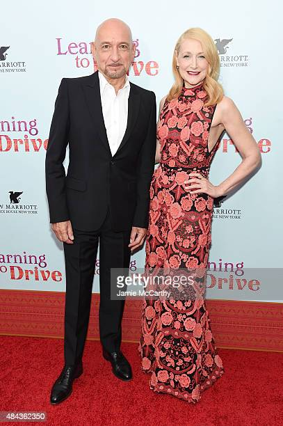 Actors Ben Kingsley and Patricia Clarkson attend the New York premiere of 'Learning To Drive' at The Paris Theatre on August 17 2015 in New York City