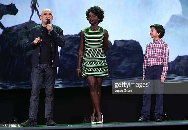 Actors Ben Kingsley Lupita Nyong'o and Neel Sethi of THE JUNGLE BOOK took part today in 'Worlds Galaxies and Universes Live Action at The Walt Disney...