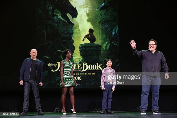 Actors Ben Kingsley Lupita Nyong'o Neel Sethi and director Jon Favreau of THE JUNGLE BOOK took part today in Worlds Galaxies and Universes Live...