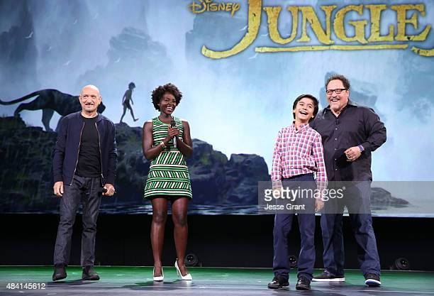 Actors Ben Kingsley Lupita Nyong'o Neel Sethi and director Jon Favreau of THE JUNGLE BOOK took part today in 'Worlds Galaxies and Universes Live...