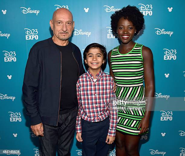 Actors Ben Kingsley Neel Sethi and Lupita Nyong'o of THE JUNGLE BOOK took part today in 'Worlds Galaxies and Universes Live Action at The Walt Disney...