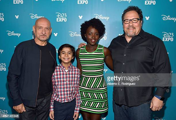 Actors Ben Kingsley Neel Sethi Lupita Nyong'o and director Jon Favreau of THE JUNGLE BOOK took part today in 'Worlds Galaxies and Universes Live...