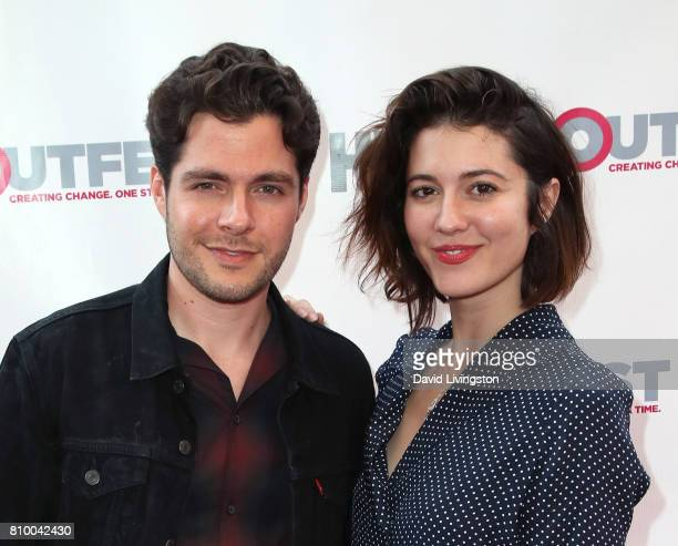 Actors Ben Lewis and Mary Elizabeth Winstead attend the 2017 Outfest Los Angeles LGBT Film Festival Opening Night Gala of 'God's Own Country' at the...