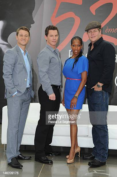 Actors Ben McKenzie Shawn Hatosy Regina King and Michael Cudlitz attend a photocall for the TV series 'Southland' during the 52nd Monte Carlo TV...