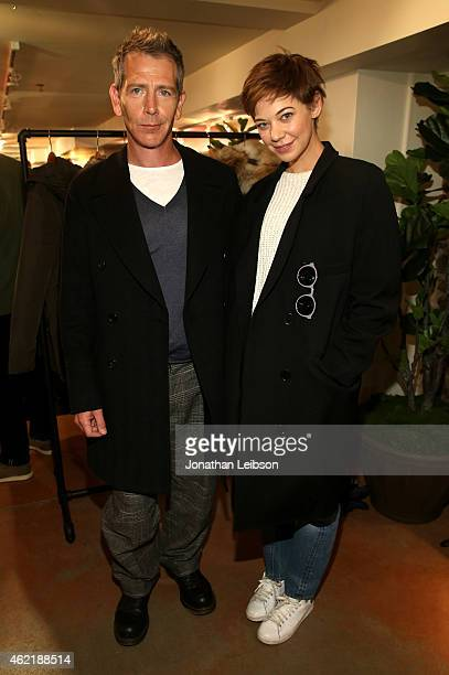 Actors Ben Mendelsohn and Analeigh Tipton attend The Variety Studio At Sundance Presented By Dockers on January 25 2015 in Park City Utah