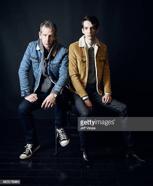Actors Ben Mendelsohn and Kodi SmitMcPhee from 'Slow West' pose for a portrait at the Village at the Lift Presented by McDonald's McCafe during the...