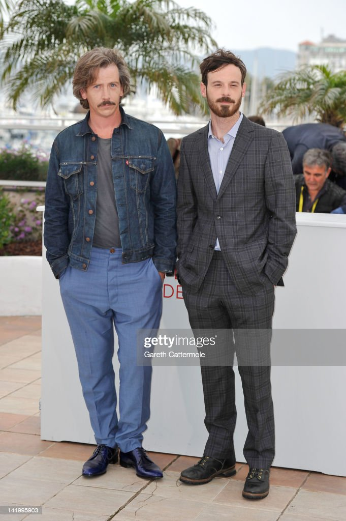 Actors Ben Mendelsohn and Scoot McNairy pose at the 'Killing Them Softly' photocall during the 65th Annual Cannes Film Festival at Palais des Festivals on May 22, 2012 in Cannes, France.