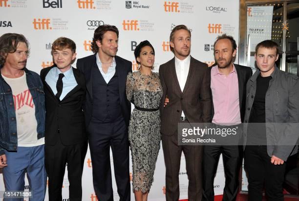 Actors Ben Mendelsohn Dane DeHaan Bradley Cooper Eva Mendes Ryan Gosling Writer/Director Derek Cianfrance and actor Emory Cohen attend The Place...