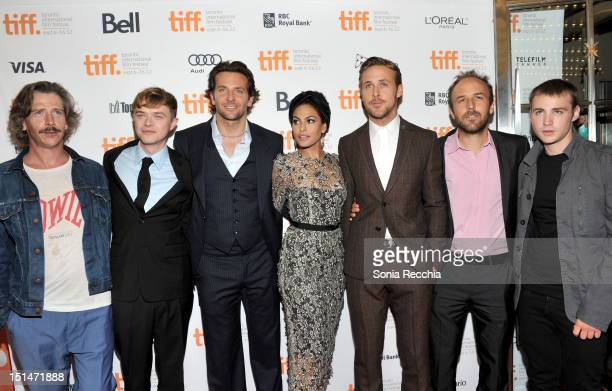 Actors Ben Mendelsohn Dane DeHaan Bradley Cooper Eva Mendes Ryan Gosling Writer/Director Derek Cianfrance and actor Emory Cohen attend The Place...