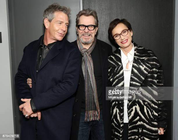 Actors Ben Mendelsohn Gary Oldman and Kristin Scott Thomas attend SAGAFTRA Foundation Conversations 'Darkest Hour' at SAGAFTRA Foundation Robin...