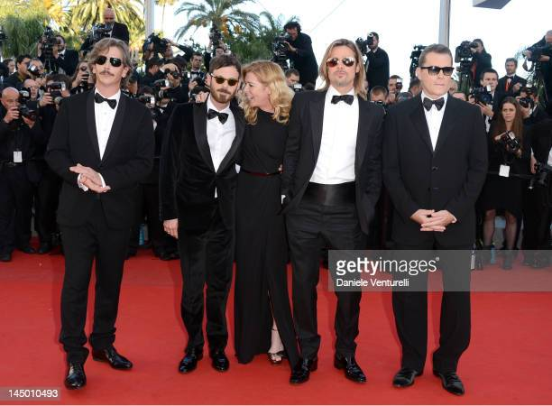 Actors Ben Mendelsohn Scoot McNairy Dede Gardner Brad Pitt and Ray Liotta attend the Killing Them Softly Premiere during the 65th Annual Cannes Film...