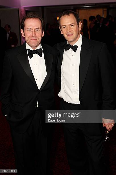 Actors Ben Miller and Alexander Armstrong attend the afterparty following the British Academy Television Awards 2008 supported by Sky+ at the...