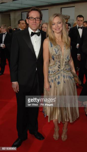 Actors Ben Miller and Sarah Alexander arrive for the TV Baftas, at the Grosvenor House Hotel in central London.