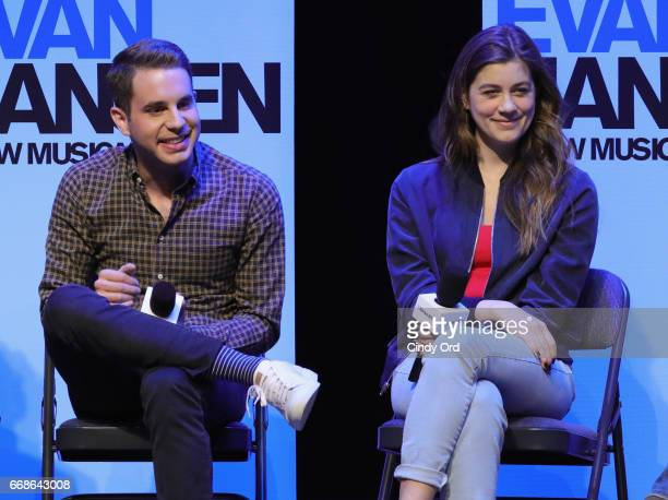 Actors Ben Platt and Laura Dreyfuss take part in SiriusXM's 'Town Hall' with the original broadway cast creative team of 'Dear Evan Hansen' on April...
