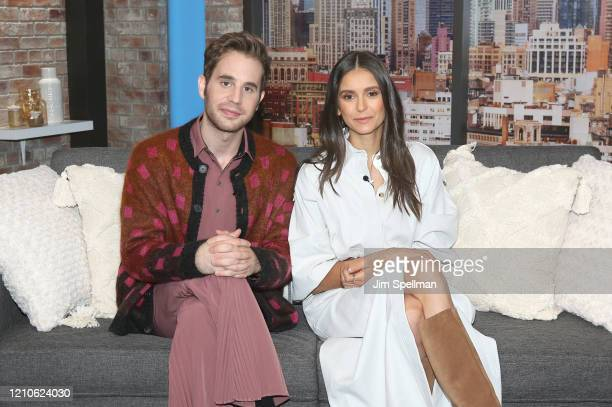 Actors Ben Platt and Nina Dobrev visit People TV on March 05 2020 in New York City