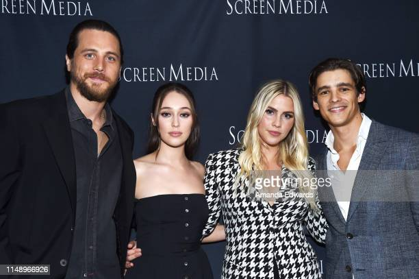 Actors Ben Robson Alycia DebnamCarey Claire Holt and Brenton Thwaites arrive at an LA Special Screening of Screen Media Film's A Violent Separation...