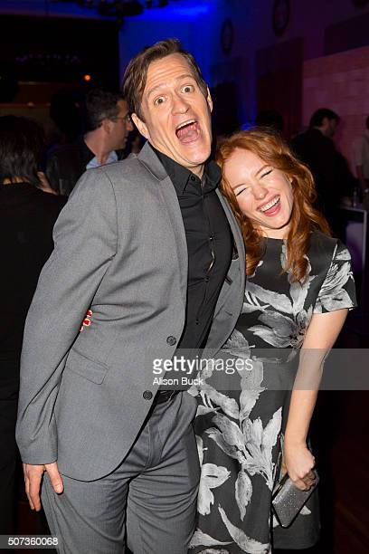 Actors Ben Roy and Maria Thayer attend the Premiere Of truTV's Those Who Can't After Partyat The Wilshire Ebell Theatre on January 28 2016 in Los...