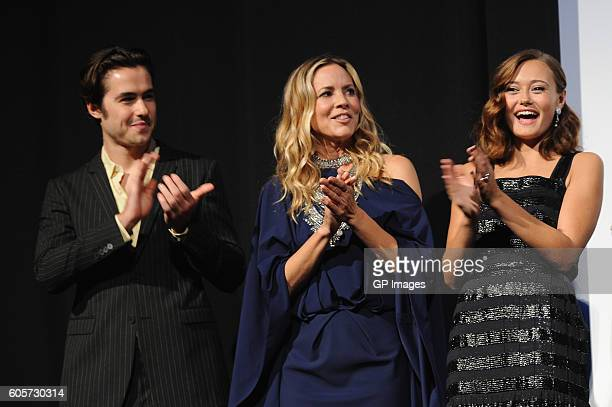 Actors Ben Schnetzer Maria Bello and Ella Purnell attend The Journey Is The Destination Premiere during 2016 Toronto International Film Festival at...