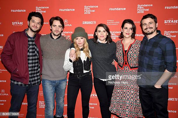 Actors Ben Schwartz Vincent Piazza Natasha Lyonne Clea DuVall Melanie Lynskey and Jason Ritter attend the The Intervention Premiere during the 2016...