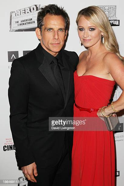 Actors Ben Stiller and Christine Taylor attend the 26th American Cinematheque Award Gala honoring Ben Stiller at The Beverly Hilton Hotel on November...