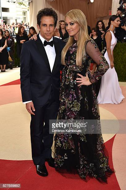 Actors Ben Stiller and Christine Taylor attend the Manus x Machina Fashion In An Age Of Technology Costume Institute Gala at Metropolitan Museum of...