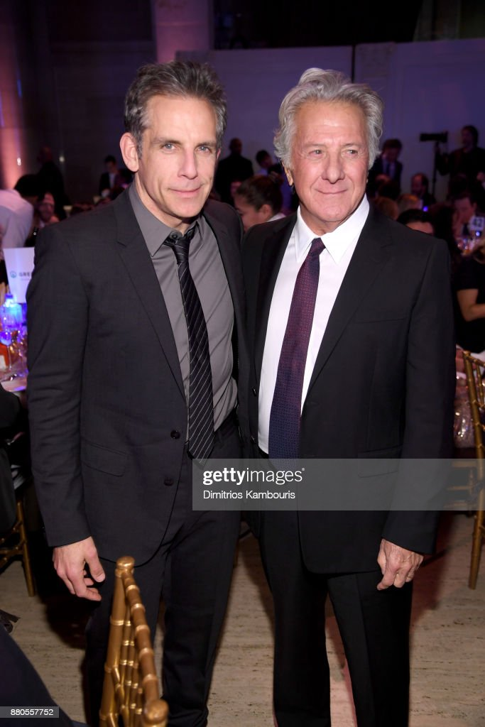 Actors Ben Stiller and Dustin Hoffman attends IFP's 27th Annual Gotham Independent Film Awards on November 27, 2017 in New York City.