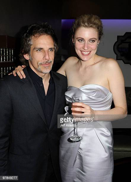 Actors Ben Stiller and Greta Gerwig attend the after party for the premiere of 'Greenberg' presented by Focus Features at La Vida on March 18 2010 in...