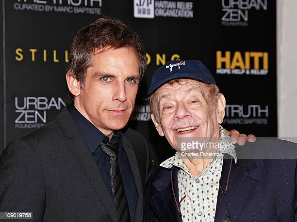 Actors Ben Stiller and Jerry Stiller arrive at the HELP HAITI - Urban Zen HHRH & The Stiller Foundation Honoring Sean Penn at the Urban Zen Center At...
