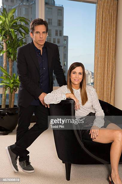 Actors Ben Stiller and Kristen Wiig are photographed for USA Today on December 1 2013 in New York City