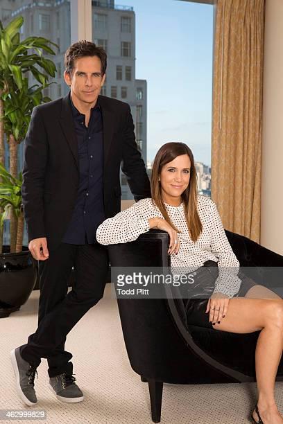 Actors Ben Stiller and Kristen Wiig are photographed for USA Today on December 1 2013 in New York City PUBLISHED IMAGE