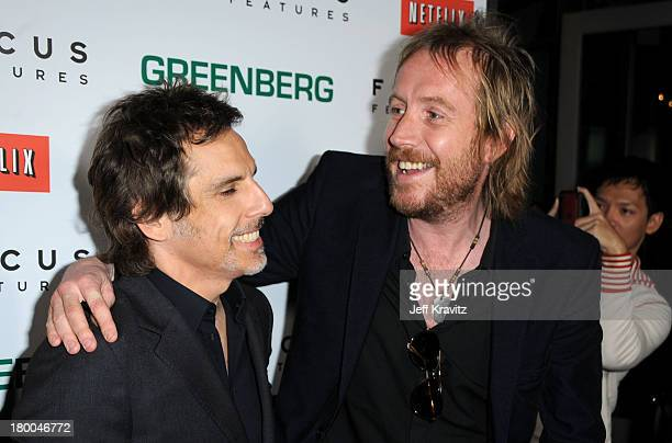 Actors Ben Stiller and Rhys Ifans arrive at the premiere of Greenberg presented by Focus Features at ArcLight Hollywood on March 18 2010 in Hollywood...