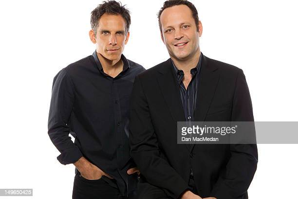 Actors Ben Stiller and Vince Vaughn are photographed for USA Today on July 1 2012 in Los Angeles California PUBLISHED IMAGE