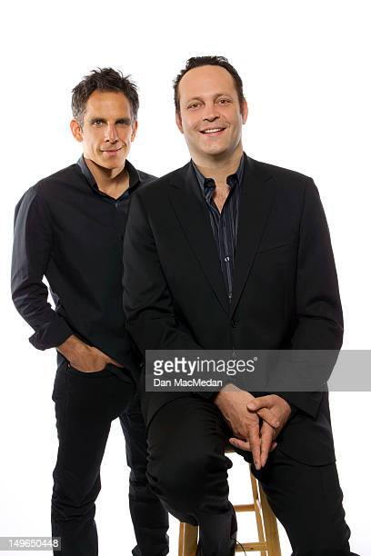 Actors Ben Stiller and Vince Vaughn are photographed for USA Today on July 1 2012 in Los Angeles California