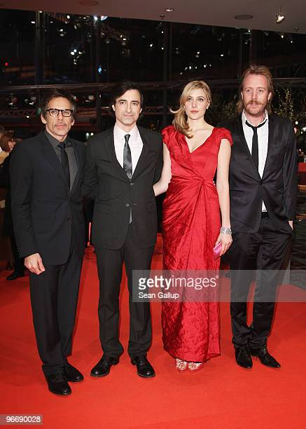 Actors Ben Stiller director Noah Baumbach actress Greta Gerwig and actor Rhys Ifans attend the 'Greenberg' Premiere during day four of the 60th...