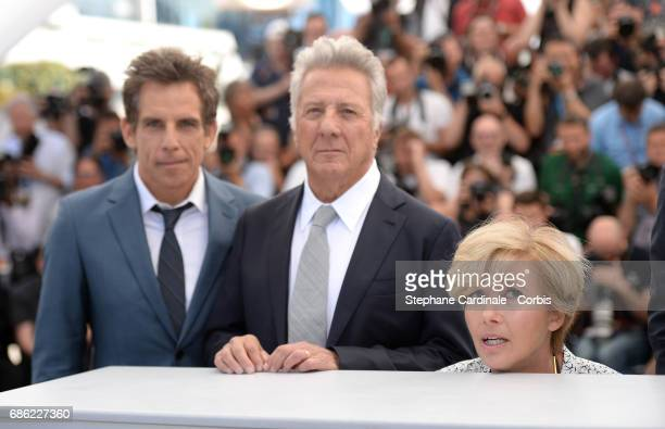 Actors Ben Stiller Dustin Hoffman and Emma Thompson attend the The Meyerowitz Stories photocall during the 70th annual Cannes Film Festival at Palais...
