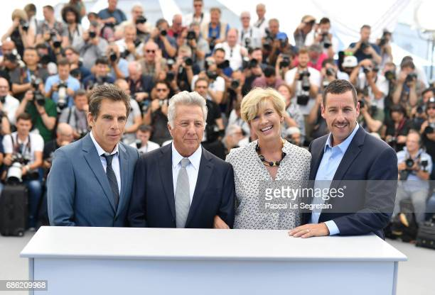 Actors Ben Stiller Dustin Hoffman Emma Thompson and Adam Sandler attend 'The Meyerowitz Stories' photocall during the 70th annual Cannes Film...