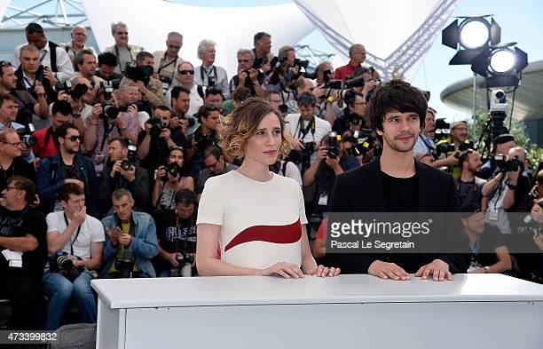 Actors Ben Whishaw and Angeliki Papoulia attend a photocall for 'The Lobster' during the 68th annual Cannes Film Festival on May 15 2015 in Cannes...