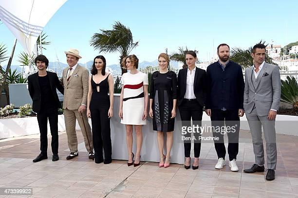 Actors Ben Whishaw John C Reilly Rachel Weisz Angeliki Papoulia Lea Seydoux Ariane Labed director Yorgos Lanthimos and actor Colin Farrell attend a...