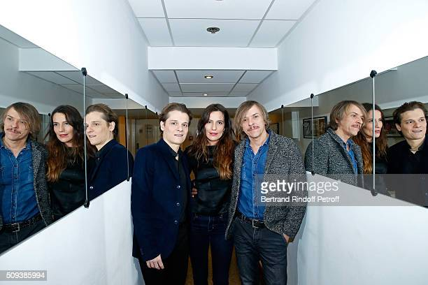 Actors Benabar Zoe Felix and Pascal Demolon present the Theater Play 'Je vous ecoute' performed at Theatre Tristan Bernard during the 'Vivement...