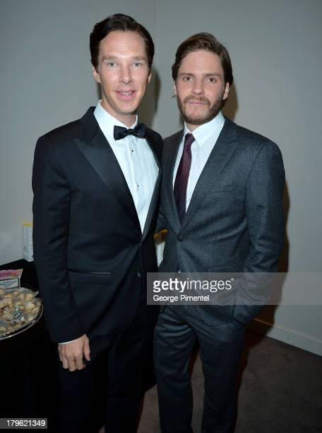 Actors Benedict Cumberbatch and Daniel Brühl arrive at 'The Fifth Estate' premiere during the 2013 Toronto International Film Festival on September 5...