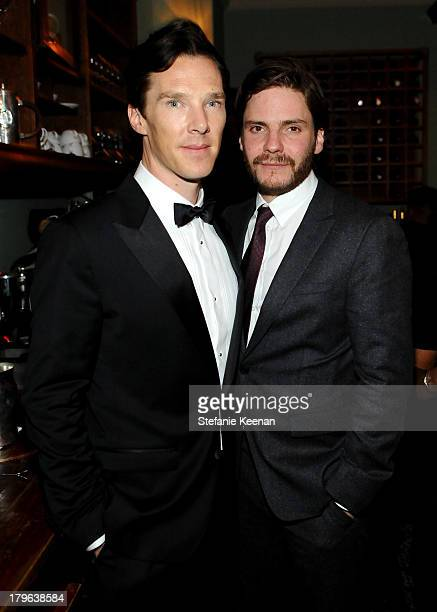 Actors Benedict Cumberbatch and Daniel Brühl at the Grey Goose vodka party for Michael Sugar at Soho House Toronto on September 5 2013 in Toronto...