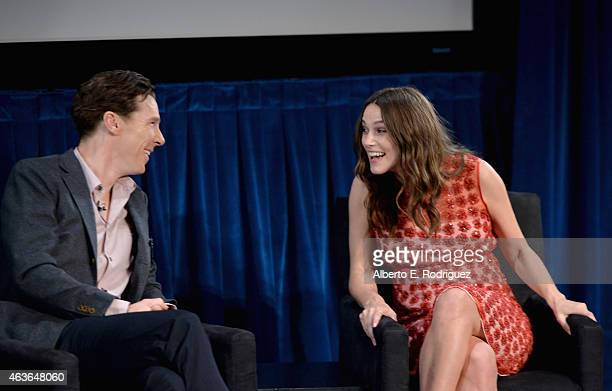 Actors Benedict Cumberbatch and Keira Knightley attend The New York Times' TimesTalk TIFF In Los Angeles Presents 'The Immitation Game' at The Paley...