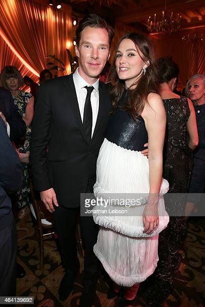 Actors Benedict Cumberbatch and Keira Knightley attend The Weinstein Company's Academy Awards Nominees Dinner in partnership with Chopard, DeLeon...